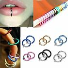 Clip-on Spring Action Non-piercing Fake Septum Lip Cartilage Nose Tragus Ring