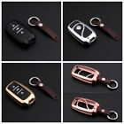 Key Cover For Changan Key Fob Aluminum Metal Genuine Leather Car Key Case Holder