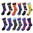 Gelante 2nd New Mens Funky Dress Socks Fashion Casual Cotton 12 Pairs size 10-13