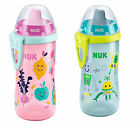 NUK Flexi Cup Soft Silicone Straw,  Practical Clip 300 ml Age 18m+,
