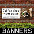 Coffee Shop Now Open PVC Banner Outdoor Drinks Restaurant Cafe Signs(BANPN00259)