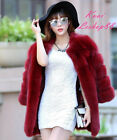 Women Faux Fox Fur Winter Coat Jacket Warm Parka Outwear Woman Overcoat Hot Sexy