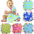 Baby Girls Boys Soft Taggy Colorful Security Blanket Comforter Gift NEW - L