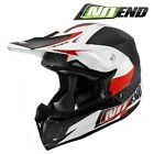 CASQUE CROSS NOEND DEFCON BY OCD BLANC/ROUGE WHITE/RED TX696 SCOOTER QUAD