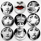 """Reproduce Fornasetti Crafts Ceramic Home Decoration 8"""" Wall Plates Art Nouveau"""
