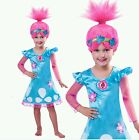Girls Trolls Poppy Troll Doll Wig Fancy Dress Cosplay Costume Halloween Outfits