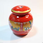Peony Flower China Red / Yellow Tea Leaf Container / Jar / Canisters / Caddy