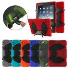 """""""Waterproof""""Case For iPad 2/3/4 Mini 1/2/3 Shockproof Heavy Duty Cover + Stand"""