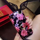 Cute Lace Bow Bling Giltter Diamond Ring Stand Case Cover for iPhone 6 6S 7 Plus