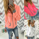 Women Ladies Hooded Zip Up Hoodies Sweater Sweatshirt Jacket Jumper Winter Coat