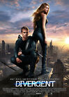 DIVERGENT (SHAILENE WOODLEY AND THEO JAMES) 01 GLOSSY FILM POSTER PHOTO PRINTS