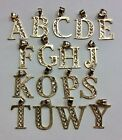REAL 10K YELLOW GOLD Small Alphabet Letters Symbol PENDANT Multiple Letters image