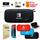 Nintendo Switch Shell Carrying Case Storage Bag Cover Case + Tempered Glass AU