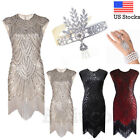 1920s Flapper Women's Dress Great Gatsby Party Prom Gown Sequins Evening Dresses