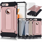 Heavy Duty Defender Hybrid Case Cover + Glass Protector For Apple iPhone 7 Plus