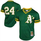 Mens Oakland Athletics Rickey Henderson Mitchell  Ness Green Throwback Jersey