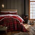 Catherine Lansfield Brushed Tartan Check Flannelette Bedding Range, Red