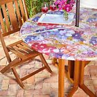 Vinyl Umbrella Table Cover COLORS Fitted Zippered Patio Outdoors ROUND LG & SM ~