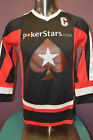 Mens Poker Stars Mats Sundin Hockey Jersey Rare New S, 3XL
