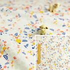 CREAM 160cm wide Meter/Square/FQ Cotton Fabric Pastel Petite Flower Floral Ditsy