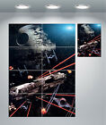 Star Wars Millennium Falcon Death Star Space Giant Wall Art Poster Print $25.15 CAD on eBay
