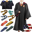 Harry Potter Gryffindor Slytherin Ravenclaw Robe Cloak Scarf Tie Costumes XMAS