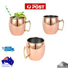 Pure Solid Copper Barrel Hammered Moscow Copper Mugs 18OZ 530 ML AU