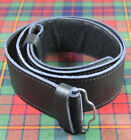 NEW 100% GENUINE LEATHER MENS GRAINED VELCRO KILT BELT - CHOOSE SIZE S M L or XL