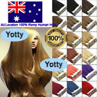 20/40Pcs Seamless Tape in Skin Weft Remy Human Hair Extensions 20Inch 7A AUStock