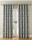 HALLAM TEXTURED DAMASK LINED EYELET CURTAINS IN 4 COLOURS