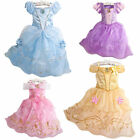 Disney Belle Princess Girls Dress Cosplay Costume Gowns Halloweens Fancy Dresses