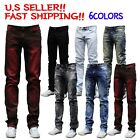 MEN Jeans Slim STRETCH FIT SLIM FIT Trousers Casual Pants SKINNY RIPPED JEAN NEW