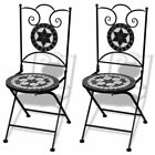Mosaic 2 pcs Outdoor Garden Patio Balcony Table Chairs Cafe Bristo 4 Motifs✓