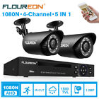 4CH 1080N CCTV DVR HDMI 2 Outdoor 1500TVL Camera Home Video Security System Kit New