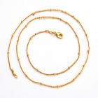 14K Yellow Gold GF Women's Link Necklace Chain Jewelry  ECO FRIENDLY PRODUCT