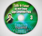 ASL / American Sign Language Visual Interactive Course. Choose from 7 languages!