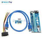 USB 3.0 PCI-E Express 1x To 16x Extender Riser Card Adapter with Power Cable