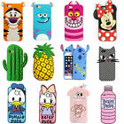 3D Cute Cartoon Soft Silicone Gel Rubber Case Cover Back Skin For Various Phones