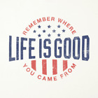 NWT Life is Good Men's REMEMBER WHERE YOU CAME FROM USA Patriotic L/S Tee XL