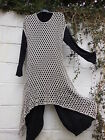 "QUIRKY FISHNET LAYERING TUNIC  BEIGE BNWT 42"" BUST 16 18  LAGENLOOK ETHNIC BOHO"