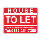 House TO LET Correx Sign Boards Estate Agent Property Signs X 2 (CORCP00029)