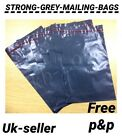 Strong Grey Mailing Post Mail Postal Bags Poly Postage Self Seal 6 x 9 UK SELLER