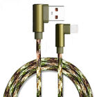For Mobile Phone Aluminium Alloy Camouflage Wire Charger Data Sync USB Cable