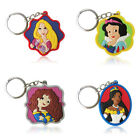 4-5pcs Lovely Princess  Cartoon Figure Key Chain PVC Key Ring Key Holder Pendant