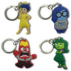 4pcs Inside Out Cartoon Figure Key Chain PVC Key Ring Key Holder Pendant Kid Toy