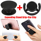 Expanding Stand and Grip Phone Holder + Pop Clip Mount for Smartphones Tablets
