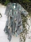 "QUIRKY SEMI WATERFALL JACKET TIE DYE  OSFA TO 46"" BUST BNWT LAGENLOOK ETHNIC"