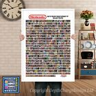 Retro NES Limited Edition Man Cave Games Room Poster 640NES GAMES A1 A2 A3 or A4