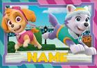 PAW PATROL skye and everest PERSONALISED PLACE MAT DINNER MAT TABLE MAT