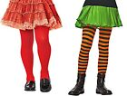 Leg Avenue Striped tights black & orange girl large/ Girls Opaque red tights med